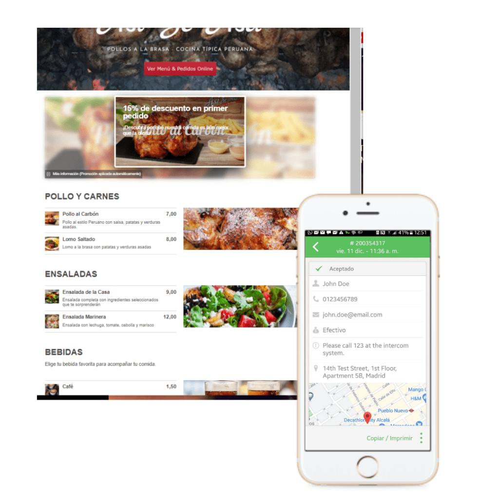 Web Restaurantes Pedidos a domicilio