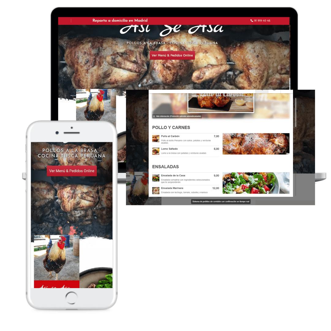 Web Restaurantes Envío a domicilio